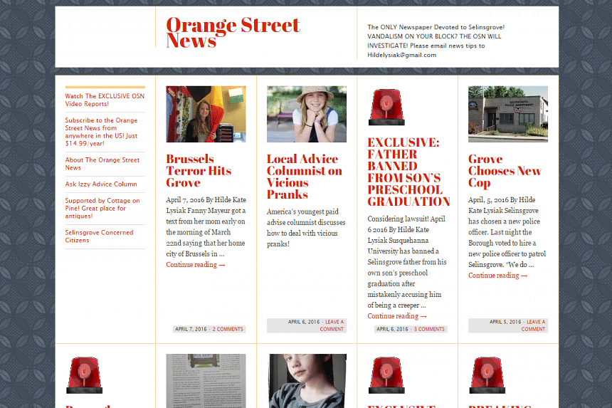 Hilde Kate Lysiak is the editor and publisher of her own newspaper, Orange Street News.