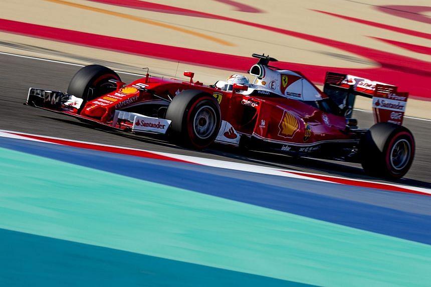 Ferrari driver Sebastian Vettel during a practice session at the Bahrain Grand Prix on April 2.