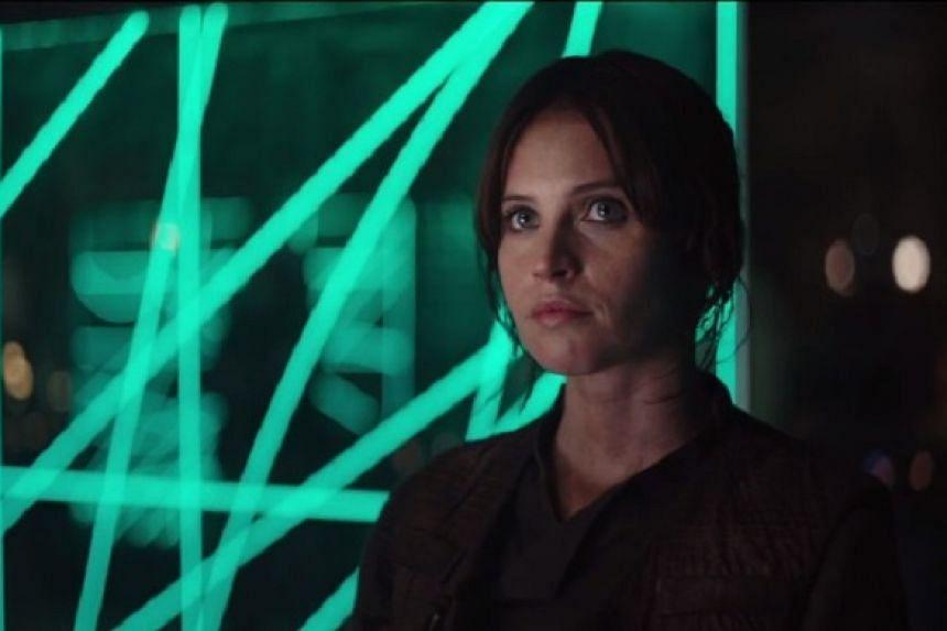 Felicity Jones plays the titular rogue in Rogue One: A Star Wars Story.