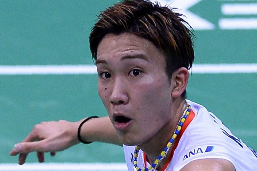 Kento Momota  (above) and Kenichi Tago will find out by this weekend if they are banned from taking part in August's Rio Olympics .