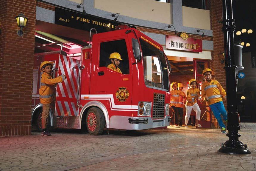 "Children can find out what it is like to be a fireman and put out a ""fire""."