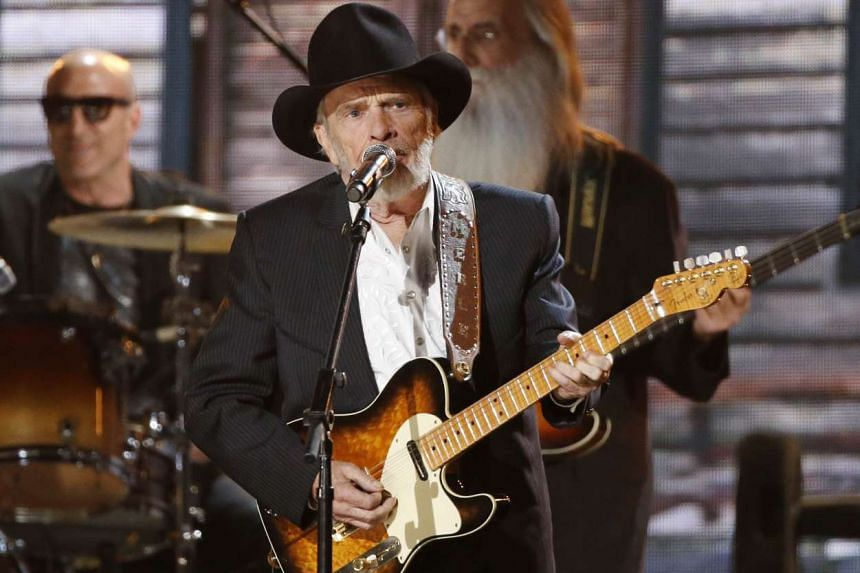 Merle Haggard performing at the Grammy Awards in Los Angeles in 2014.
