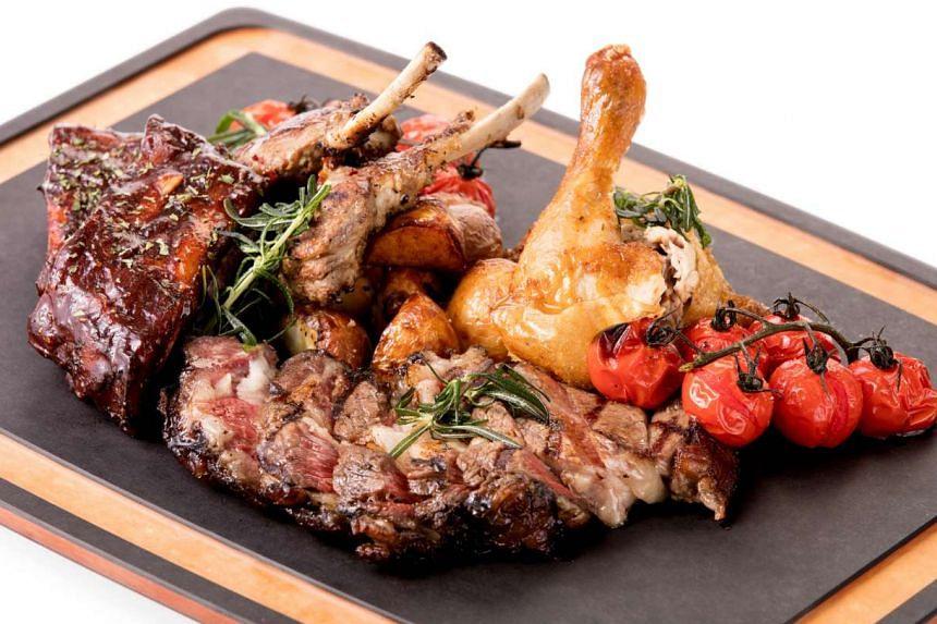 Meat platter.