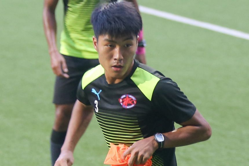 Song Ui Young training with his Home United team-mates yesterday. The defensive midfielder has caught the eye with his all-action displays.