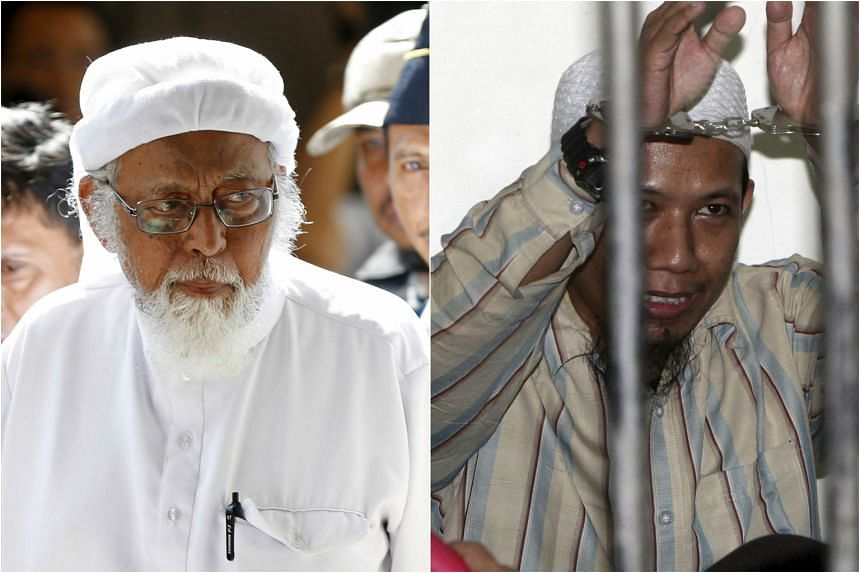 Indonesia plans to further separate terrorist inmates Abu Bakar Bashir (left) and Aman Abdurrahman by moving them out of the Nusakambangan island prison, where they have already been locked up in isolation cells.