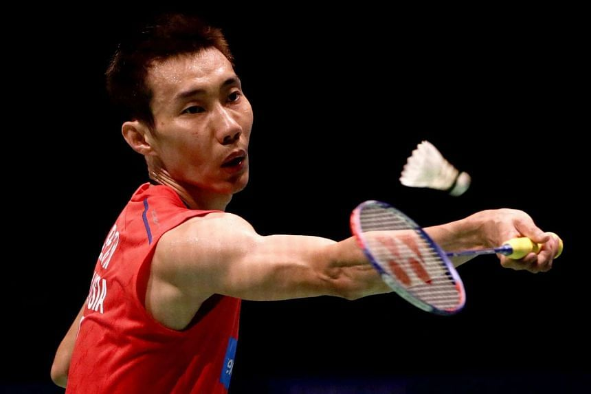 Malaysia's Lee Chong Wei in action in the men's single semi-final match of Malaysia Open Badminton tournament, on April 9.