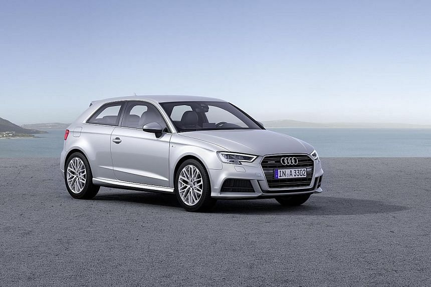 Audi's facelifted A3.