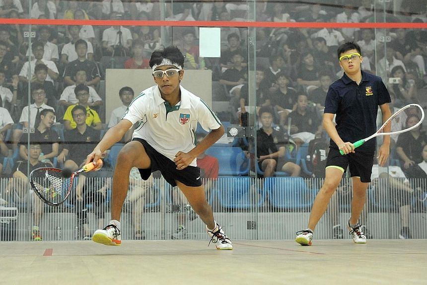 Rutvik Rau Bairavarasu sealed overall victory for RI when he beat ACS(I)'s Kieren Tan 3-0 in the fourth match of the B Division squash final. Rutvik and Anders Ong were both also in last year's winning team.