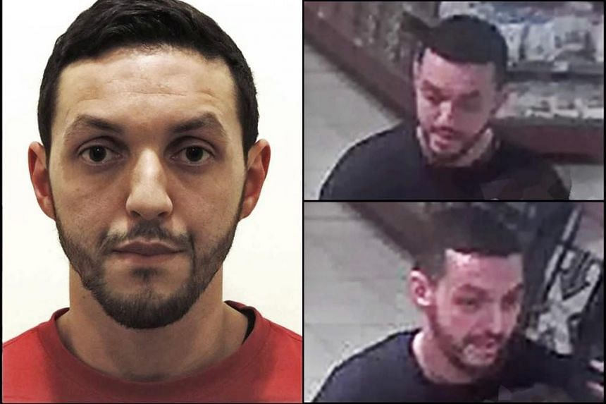 An undated combo handout photograph made available by the Belgian Federal Police showing Mohamed Abrini.