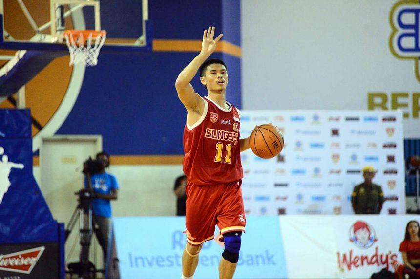 Singapore Slingers' point guard Kris Rosales.