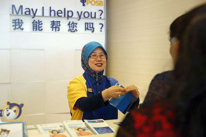 POSB Active Neighbour staff Nurshuhada Yeo, 52, has been employed by the bank for more than 2 years and works at the Woodlands Centre Road branch. The POSB Active Neighbours Programme hires older workers as part-timers at POSB branches.