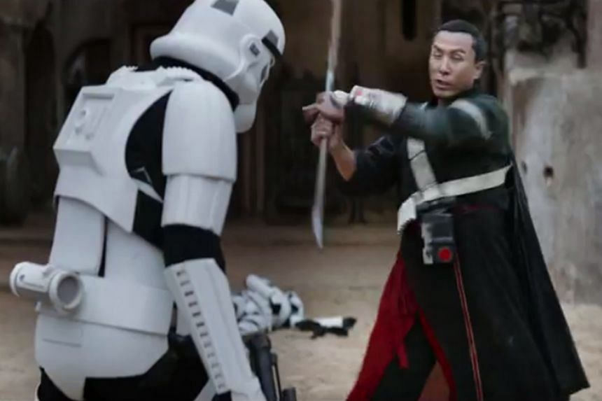 Donnie Yen in the trailer for Rogue One: A Star Wars Story.