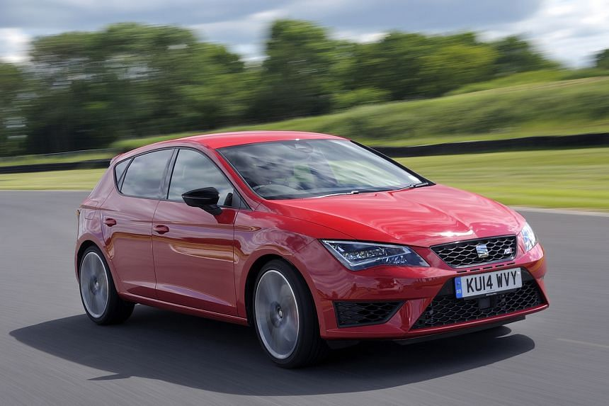 An entire range of Seat models, such as the Leon Cupra hot hatch (above), will be available in Singapore.