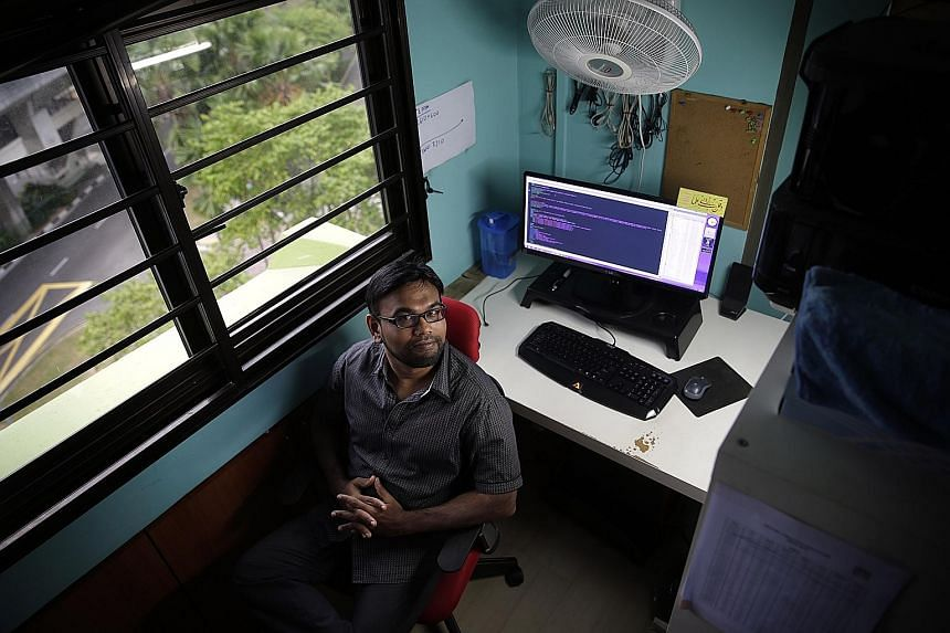 The nature of Mr Khan's work makes it perfect for freelancing - dealing with computers and the Internet means he can easily work from home, allowing him to spend more time with his family.