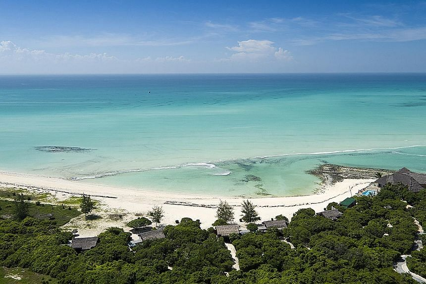 A view of the newly refurbished Anantara Medjumbe Island Resort in Mozambique.