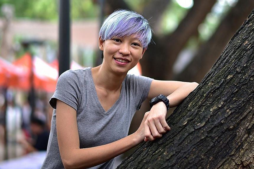 """As a freelance film and TV production coordinator, Ms Sim says there are no CPF or health benefits, and """"we have to watch our own backs and make sure we have enough savings to settle the rent in the months when we're not paid""""."""