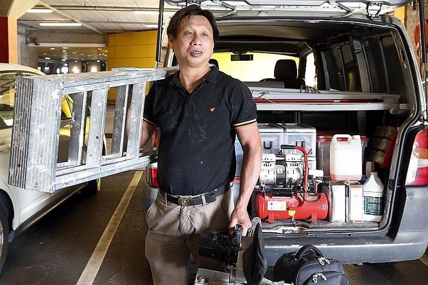 Handyman Desmond Toh.