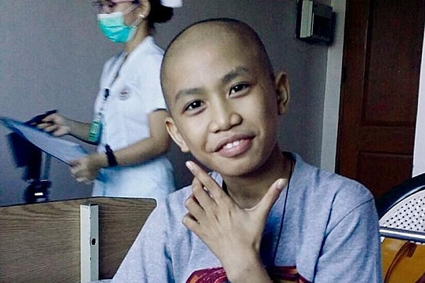 Filipino maid Ms Canete said her son, Dave (above), who had a tumour, is more cheerful after surgery.