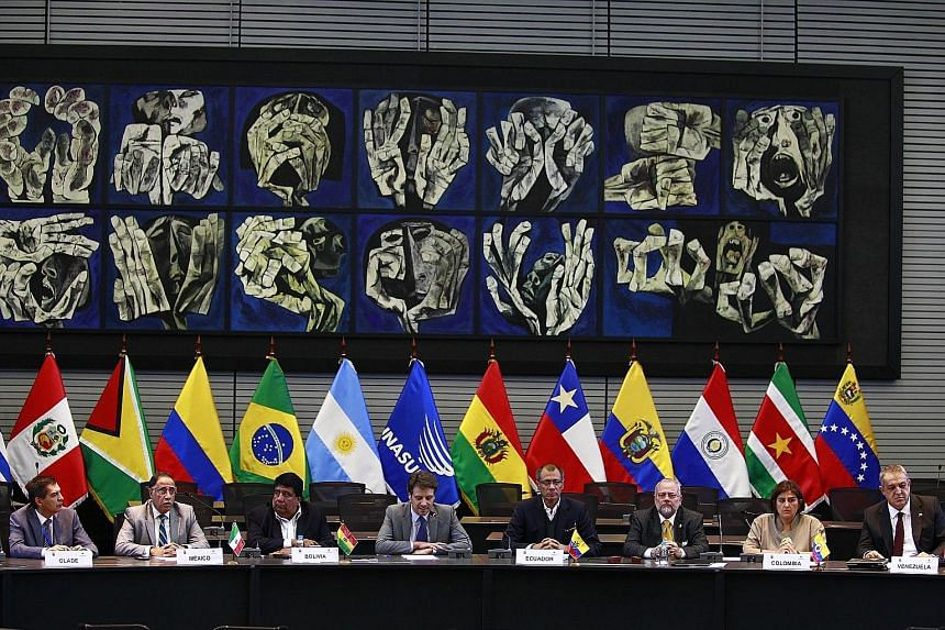 Delegates from Ecuador, Venezuela, Colombia, Bolivia and Mexico meeting in Quito, Ecuador, on Friday to discuss the depressed oil market.
