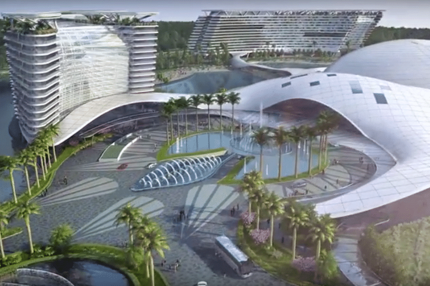 Screengrab of an artist's impression of the Aquis Great Barrier Reef Resort.