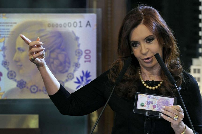 Argentine President Cristina Kirchner in a 2012 file photo.
