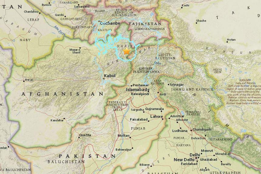A 6.6-magnitude earthquake struck near Afghan-Pakistan border on April 10, 2016.