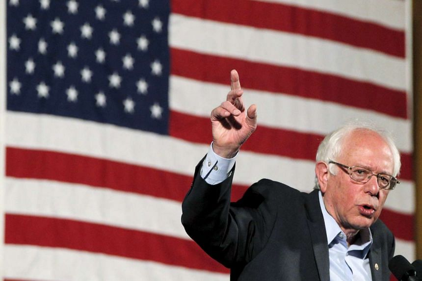 US Democratic presidential candidate Bernie Sanders speaks at a campaign rally at the United Palace in New York, on April 9, 2016.