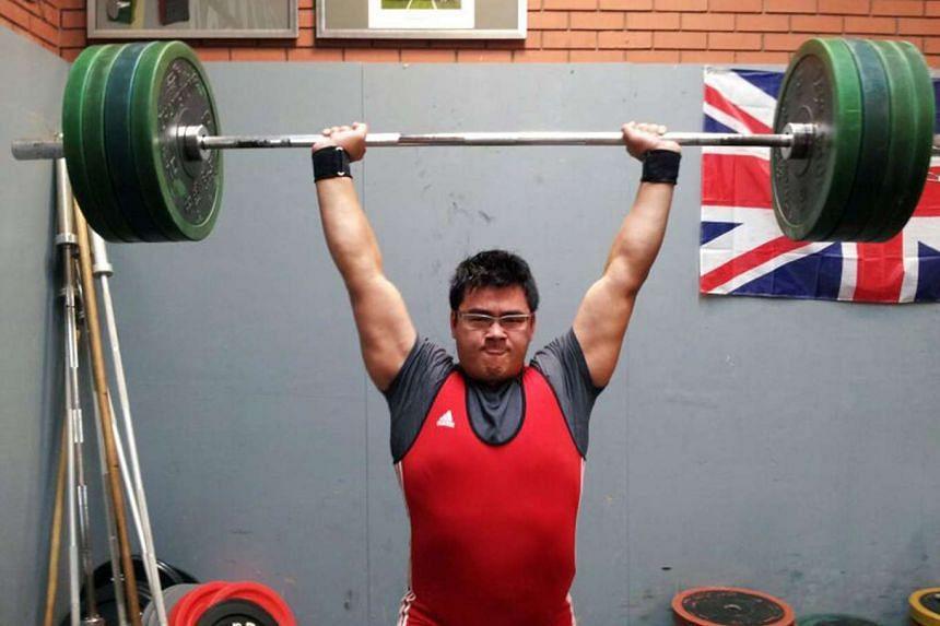 Singaporean weightlifter Scott Wong.