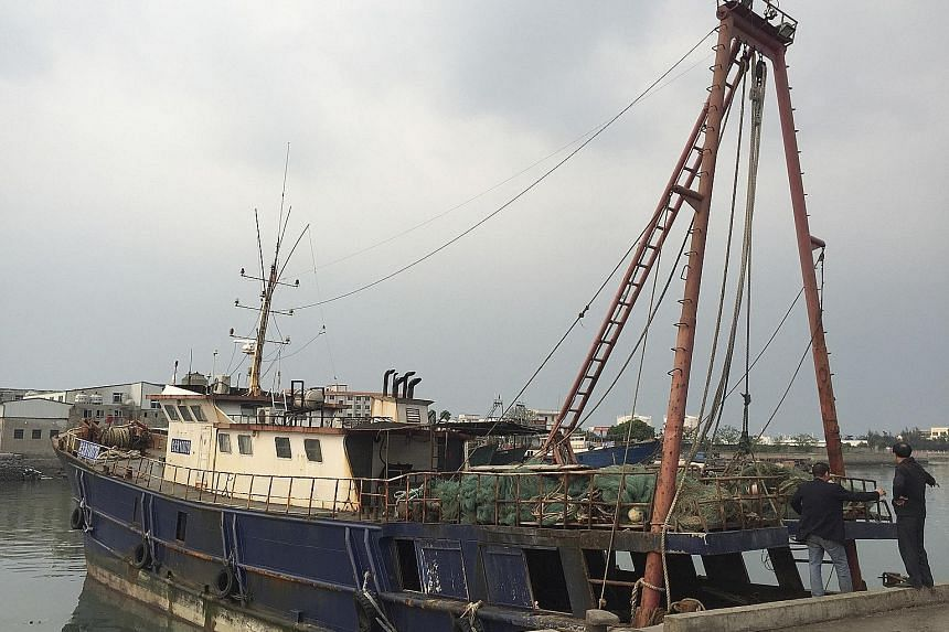The fishing vessel back in Beihai after a Chinese coast guard ship intervened during the incident.