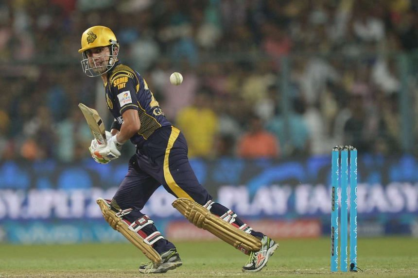 Gautam Gambhir plays a shot during the 2016 Indian Premier League (IPL).