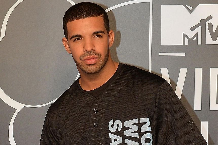 Rapper Drake arriving at the MTV Video Music Awards at the Barclays Center in New York.