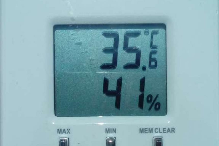 The ambient temperature at the start of the experiment was 35.6 deg C.
