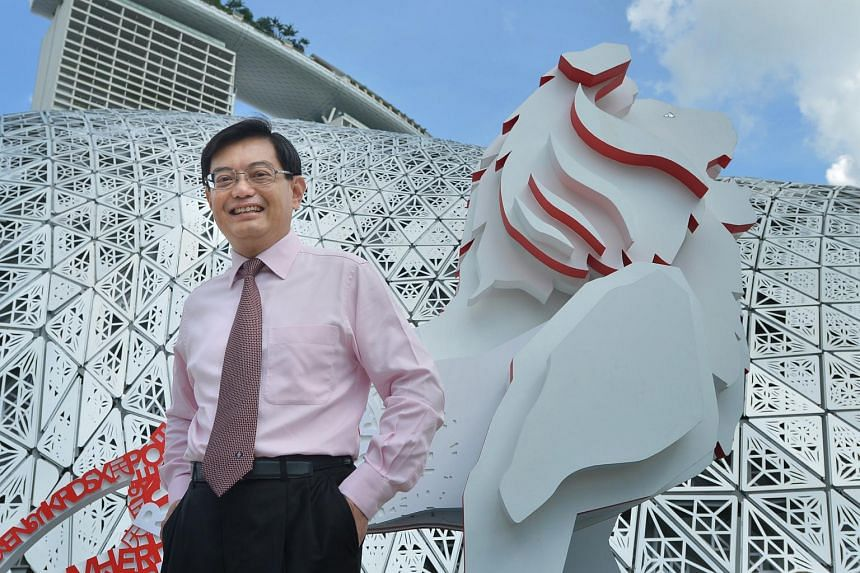 Finance Minister Heng Swee Keat at the Future Of Us exhibition at the Gardens By The Bay.