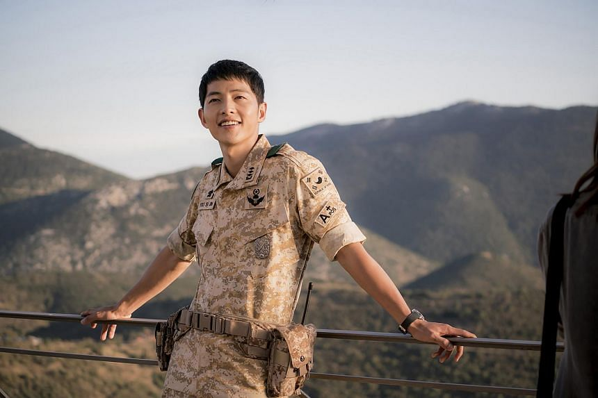 South Korean actors Song Joong Ki in a scene from the hit South Korean drama series Descendants Of The Sun.