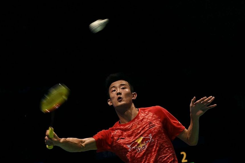 China's Chen Long in action at the men's singles final match of the 2016 Malaysia Open Badminton Superseries, on April 10, 2016.