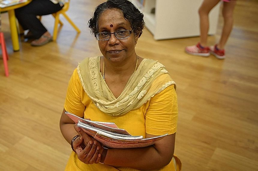 Retired educator Jensrani Thangavel, 59, pours her passion and experience from three decades of teaching into her volunteer work for the Book Rangers Club for young readers of Tamil, helping to develop its curriculum and programme. The group is one o