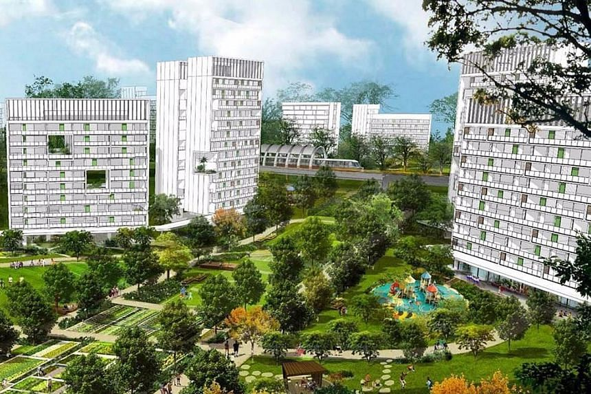 An artist's impression of the future Tengah town, which is expected to have about 55,000 homes.
