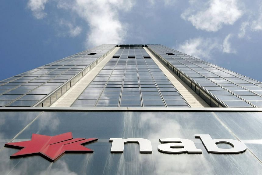 The company logo of National Australia Bank house in Sydney.