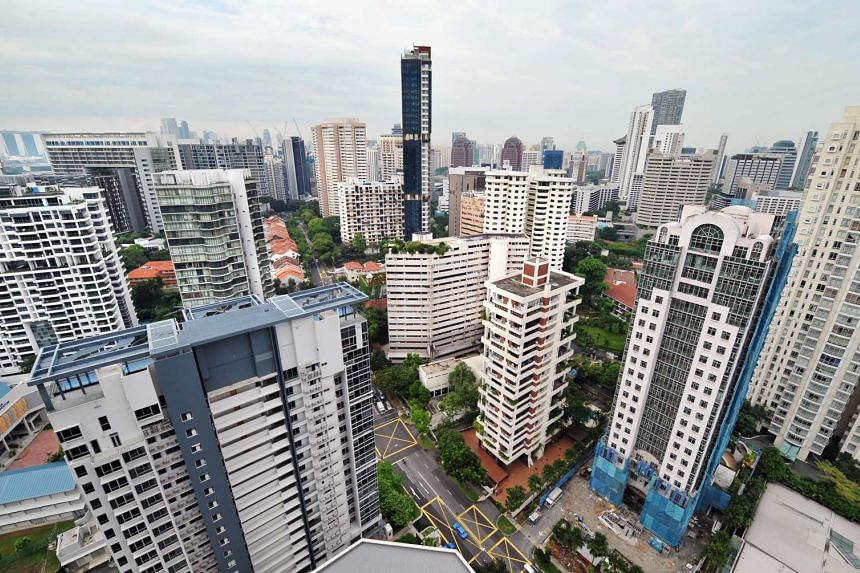 Resale prices of non-landed private homes edged up by 0.3 per cent in March from February.