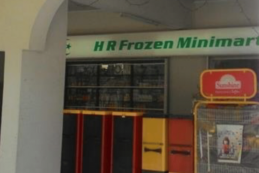 H.R Frozen Food and Trading at Choa Chu Kang Central, one of the two retailers suspended for selling tobacco products to minors.