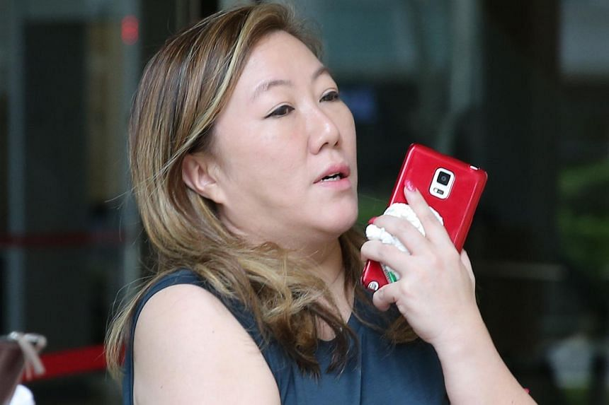 High-profile art gallery owner Jasmine Tay outside the State Courts on Feb 11, 2016.