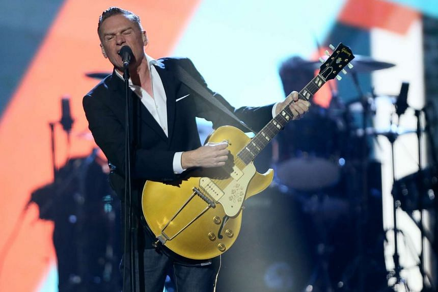 Singer Bryan Adams performs on stage at the 2016 Juno Awards in Calgary, Alberta, Canada, on April 3.