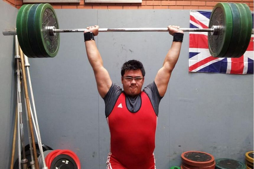 National weightlifter Scott Wong at a training session in 2013.