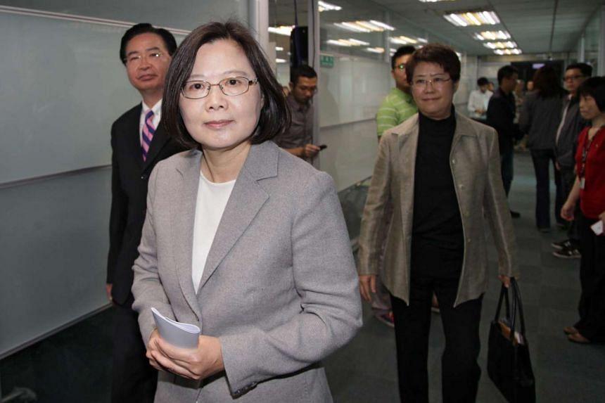 Taiwan President-elect Tsai Ing-wen in Taipei, Taiwan, on Feb 15, 2015.
