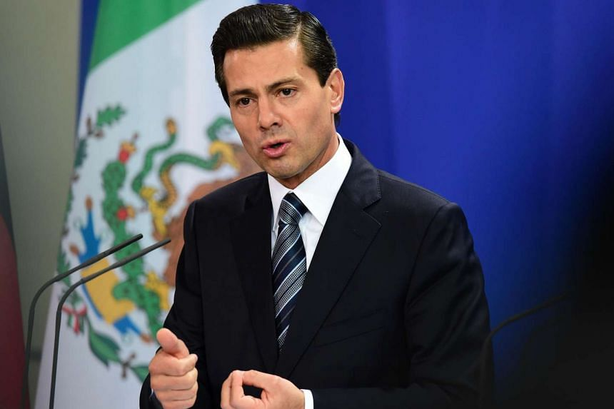 Mexican President Enrique Pena Nieto's approval rating has sunk to 30 per cent.