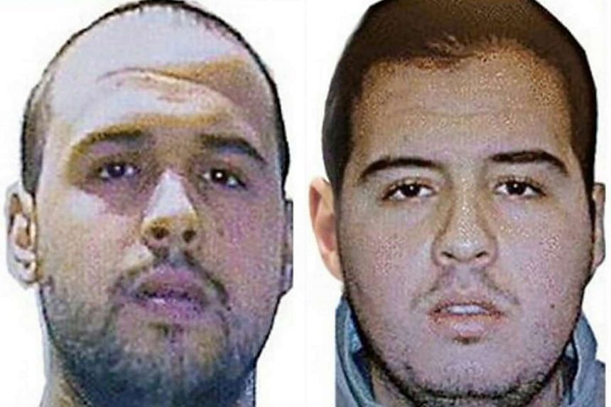 A combo picture showing suicide bombers Khalid (left) and Ibrahim El Bakraoui.