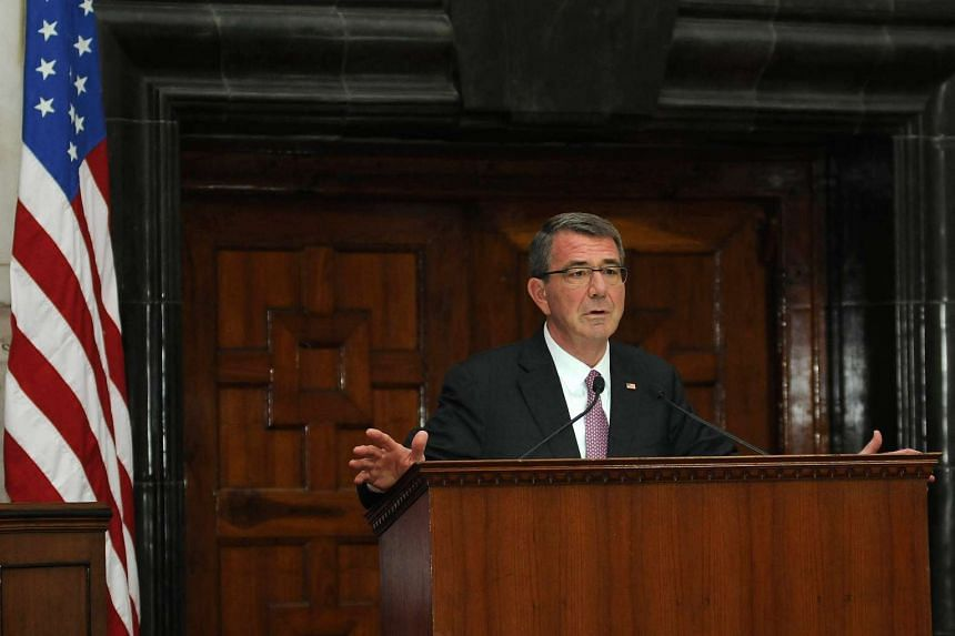 US Secretary of Defence Ashton Carter arrived in the Philippines on April 13, 2016.