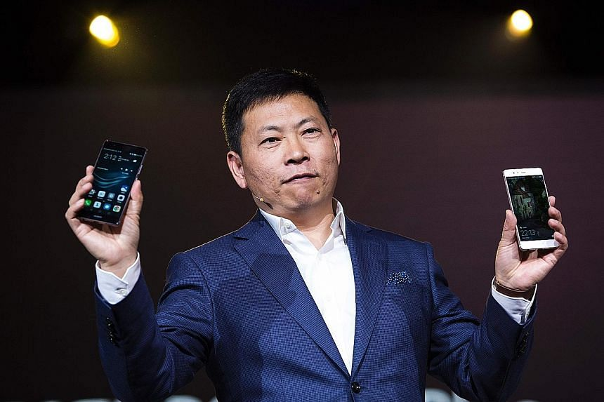 Huawei's consumer business group CEO Richard Yu speaking at the launch of the Huawei P9 smartphone in London last Wednesday.