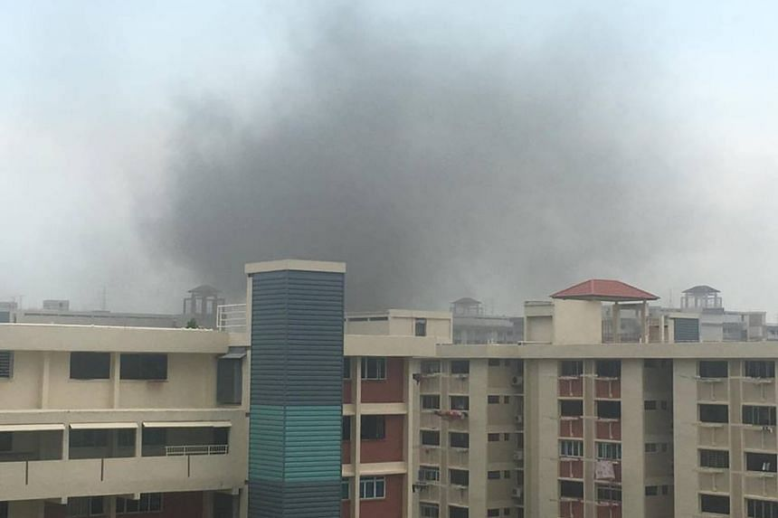 Programme executive Zech Lin sent photos of thick clouds of smoke in the area.
