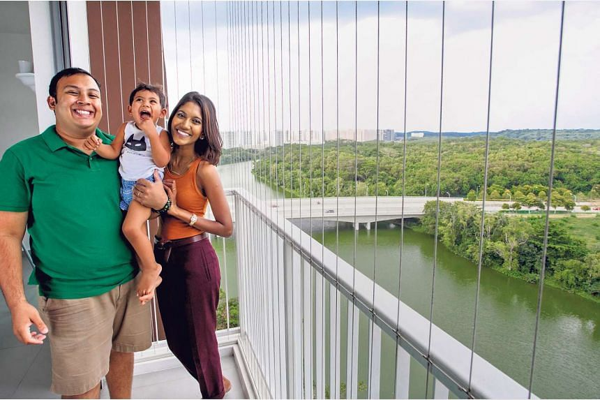 """""""The biggest and most pleasant surprise was the river view — from our flat, we had a great view of the Serangoon Reservoir,"""" said Jonathan Jacob, 30."""
